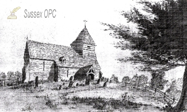 Image of Whatlington - St Mary's Church in 1779