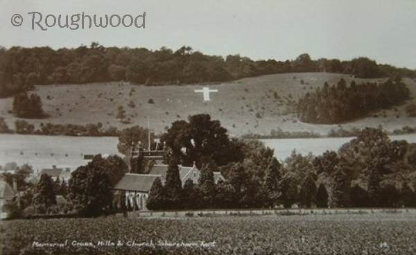 Image of Shoreham - Memorial Cross & Church