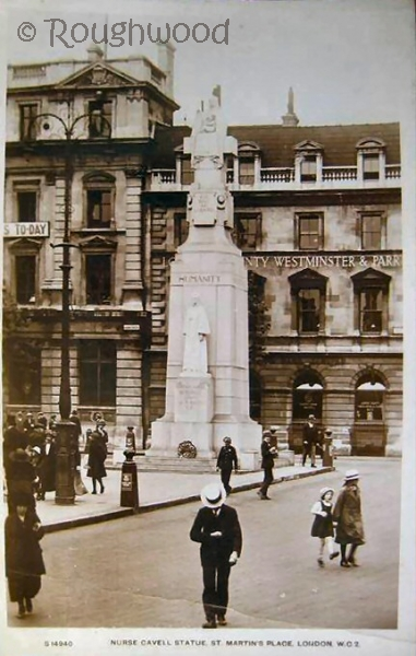 London - St Martin's Place (Cavell Statue)