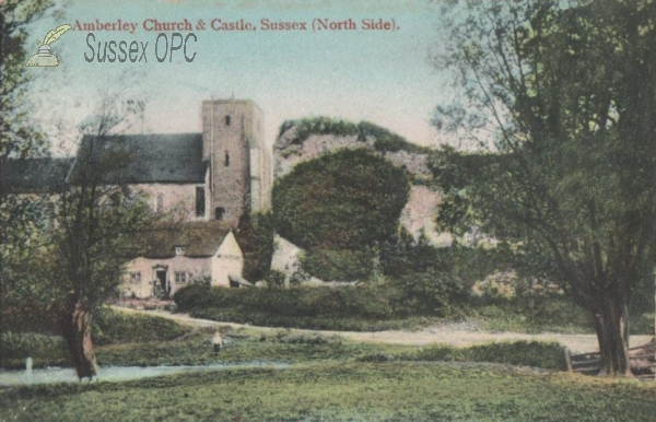 Amberley - St Michael's Church & Castle (North Side)