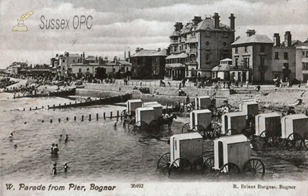 Bognor - West Parade from Pier