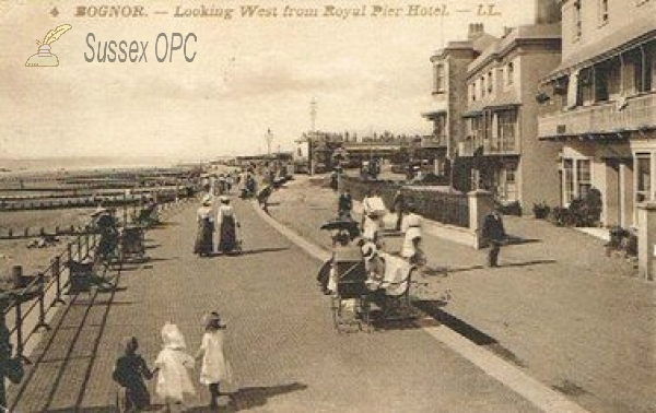 Bognor - Looking West from Royal Pier Hotel