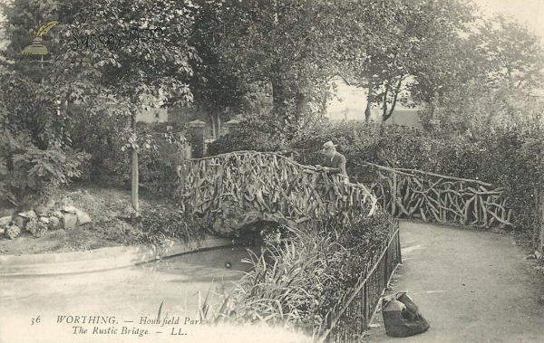Worthing - Homefield Park (Rustic Bridge)
