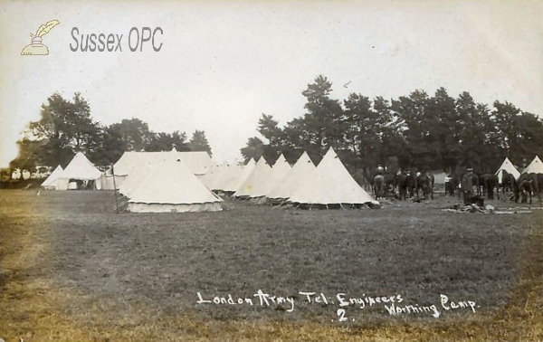 Worthing - Army Camp, London Army Tel. Engineers