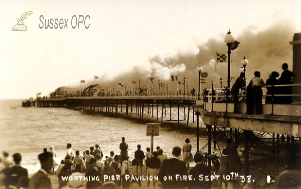 Worthing - Pier Fire, 10th September 1933
