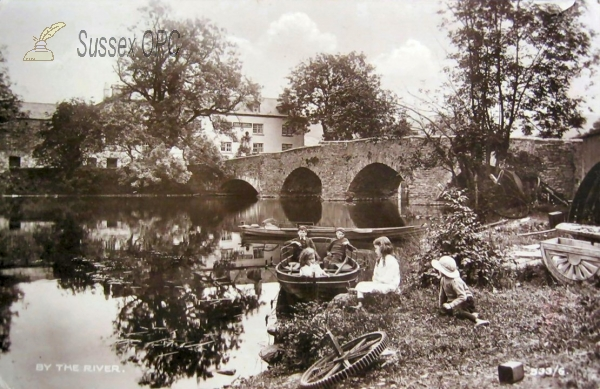 Image of Burgess Hill - Children by the River Bridge