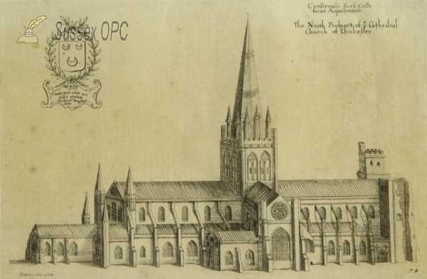 Image of Chichester - The Cathedral, north prospect