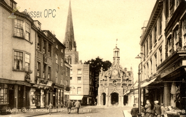 Chichester - Market Cross from East Street