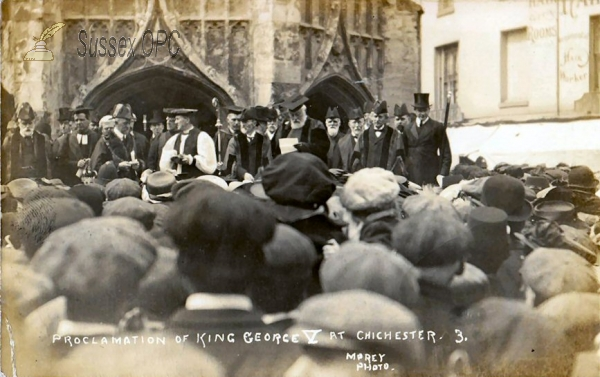 Chichester - Procalmation of King George V