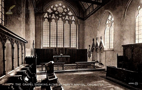 Chichester - St Mary's Hospital (Chapel interior)