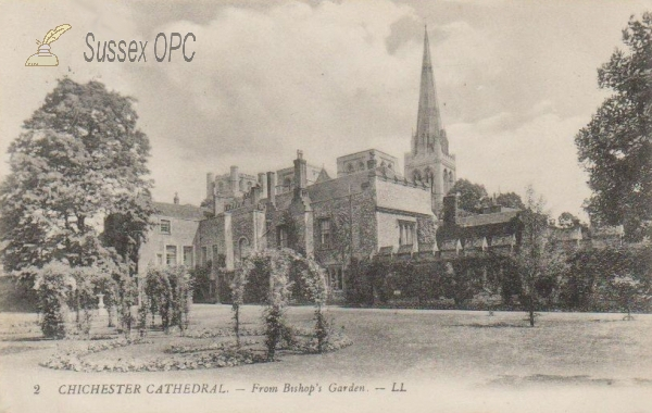 Chichester - Cathedral (From Bishop's Garden)