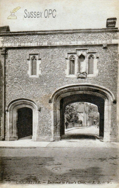 Chichester - Entrance to Vicar's Close.