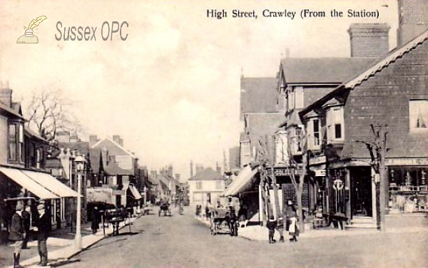 Crawley - The High Street From the Station