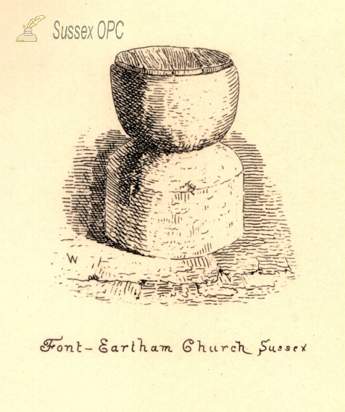 Eartham - St Margaret's Church (Font)