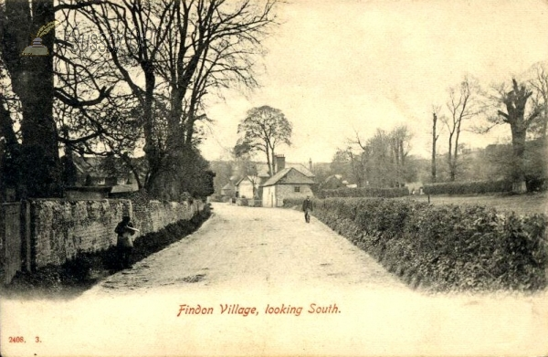 Findon - The village looking south
