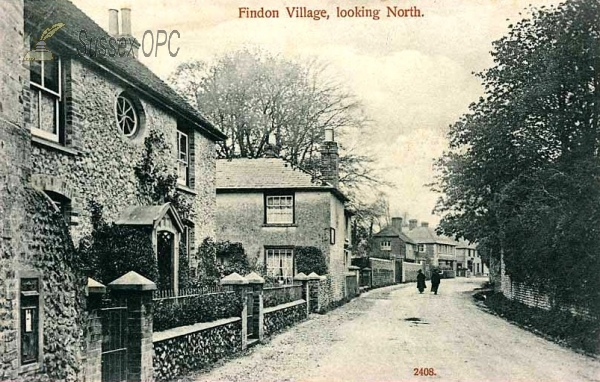 Findon - The village looking north