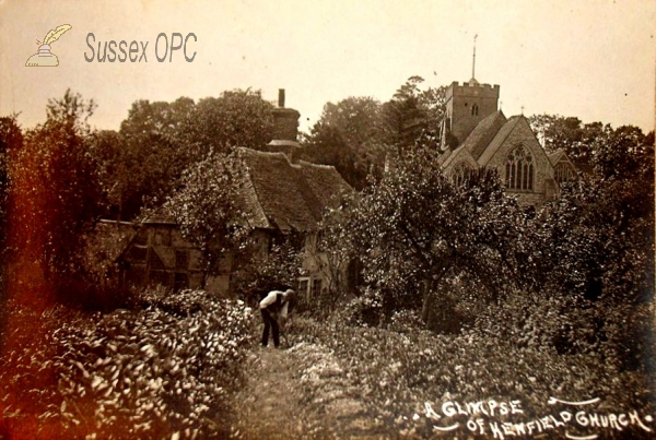 Image of Henfield - A glimpse of the church