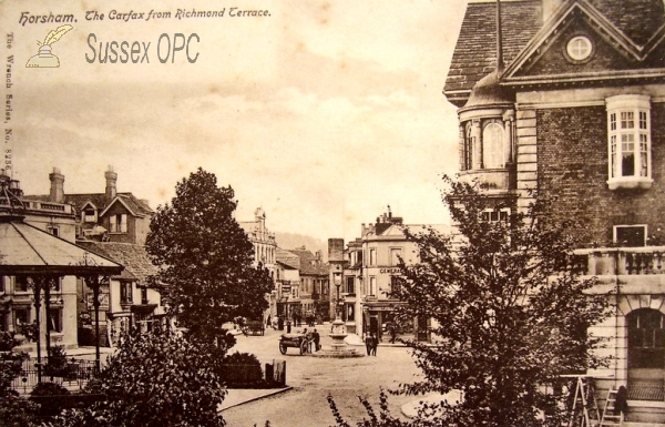 Horsham - The Carfax from Richmond Terrace