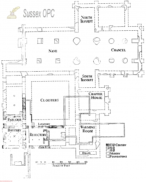 Lynchmere - Shulbrede Priory (Plan)