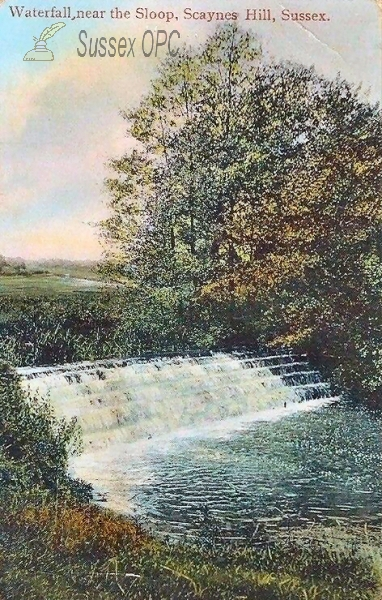 Image of Scaynes Hill - Waterfall near the Sloop