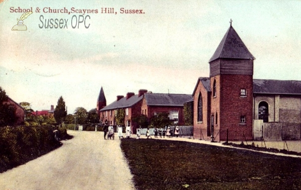 Scaynes Hill - School & Churches