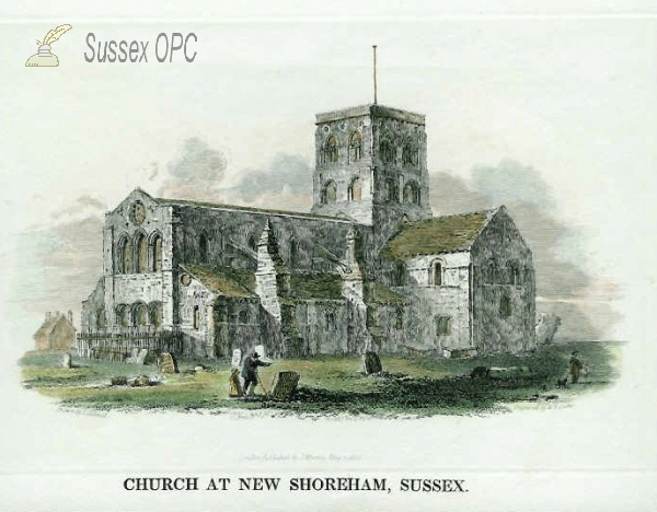 Image of New Shoreham - St Mary's Church in 1815