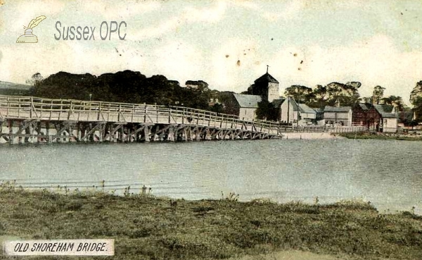Old Shoreham - St Nicolas Church and bridge