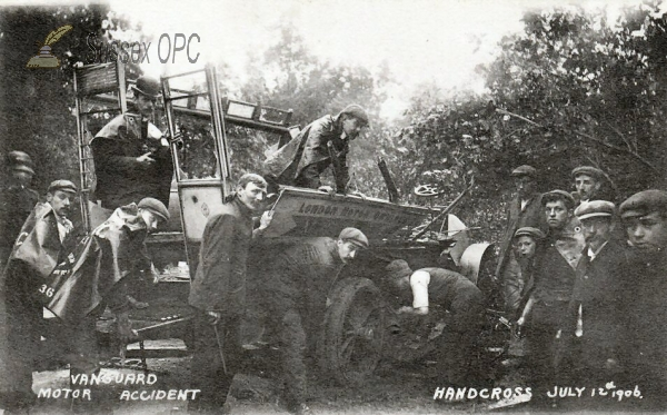 Handcross - Vanguard Motor Accident - 12th July 1906