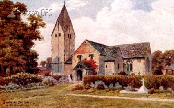 Image of Sompting - The Church, near Worthing