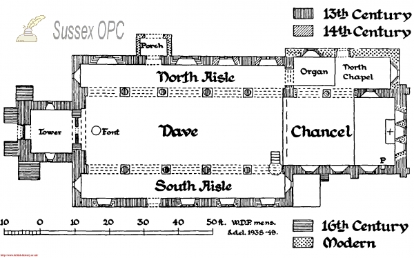 Image of South Bersted - Plan of St Mary's Church
