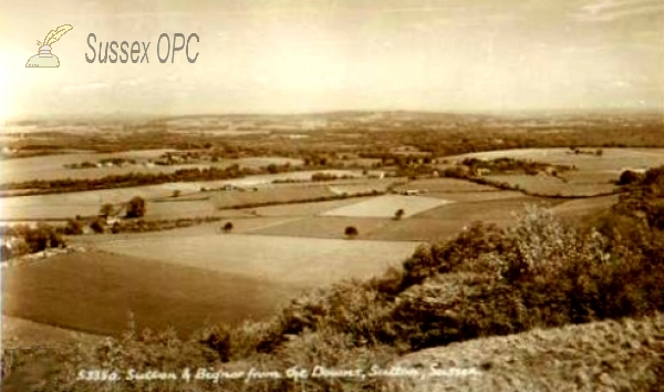 Image of Sutton - Sutton & Bignor from the Downs