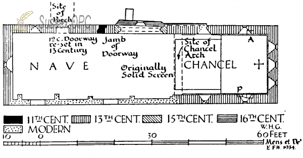Treyford - Plan of St Mary's Church