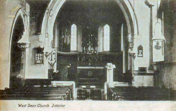 West Dean - St Andrew's Church (Interior)