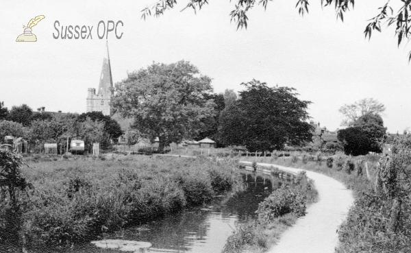 Image of Westbourne - St John the Baptist Church & River Ems