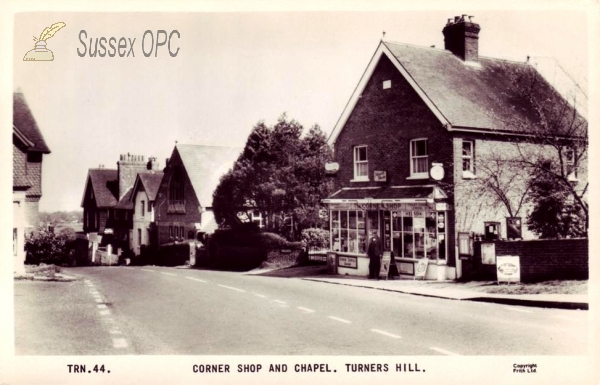 Turners Hill - Corner shop and Chapel