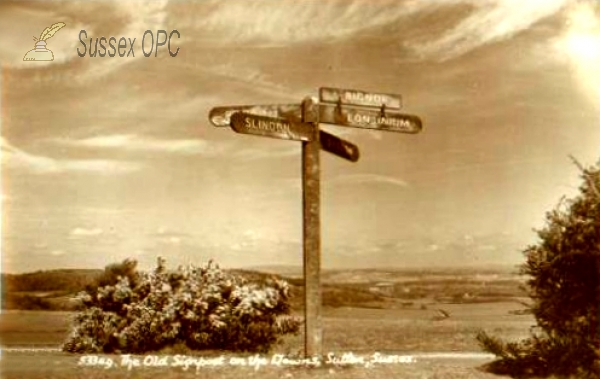 Image of Sutton - Old Signpost on the Downs